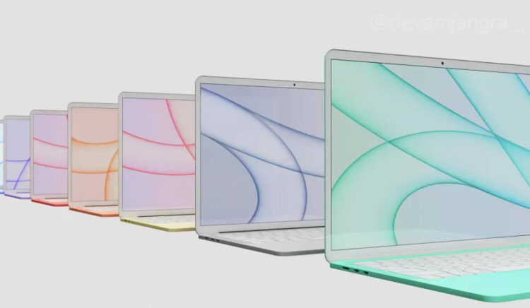MacBook Air 2022 kleuren