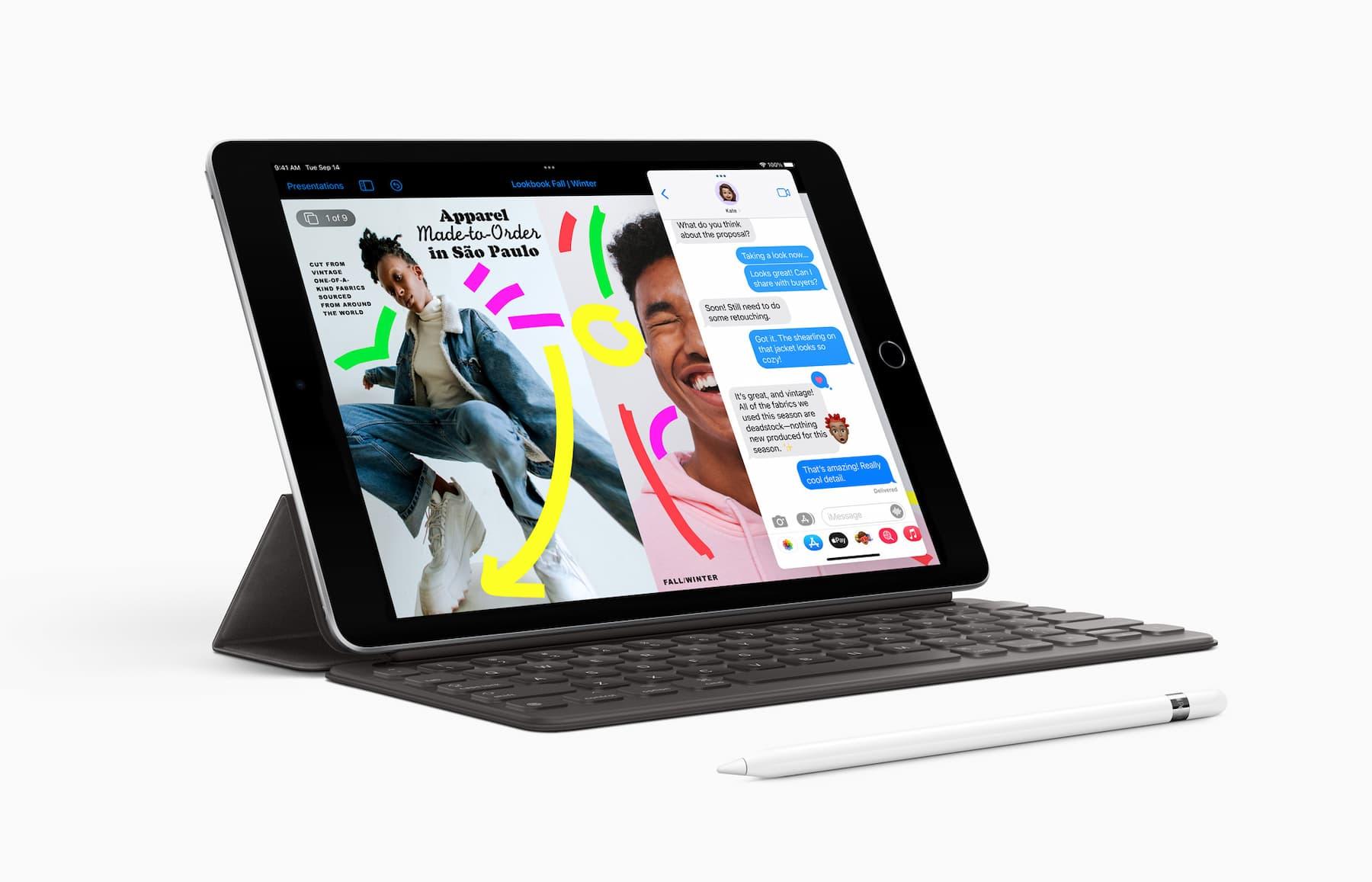 iPad 2021 met accessoires