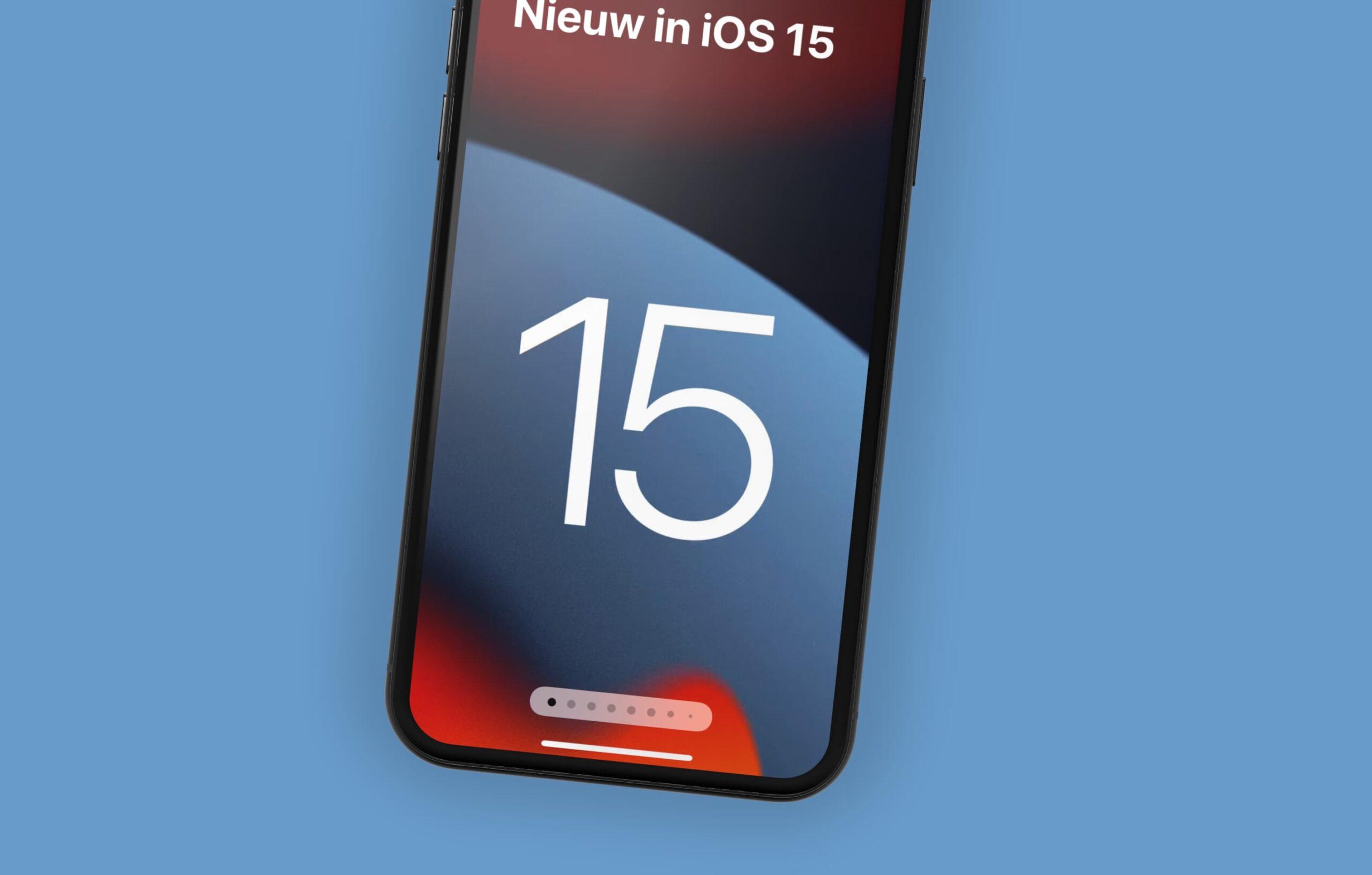 nieuw in iOS 15
