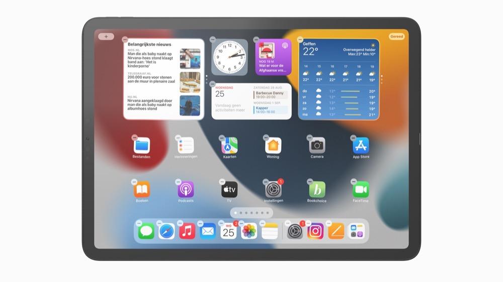 Widgets iPad toevoegen