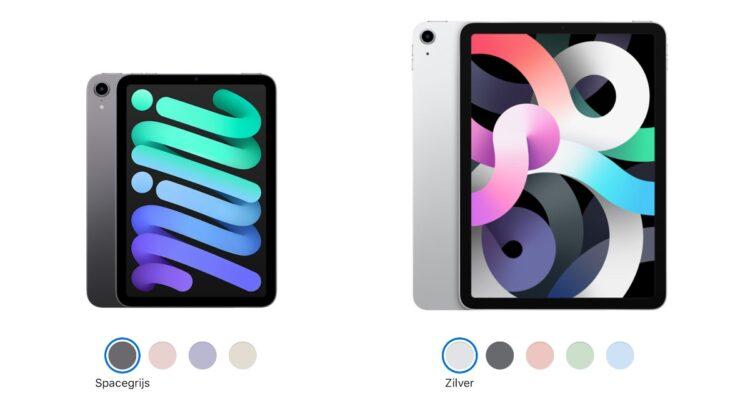 iPad mini 2021 vs. iPad Air 2020 kleuren
